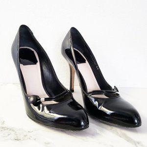 Christian Dior Black Patent Leather Heel